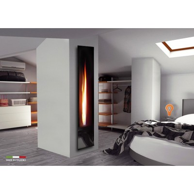 Italkero Mirror Flame Camino a gas Frameless Monofacciale a Rilievo IN03AM